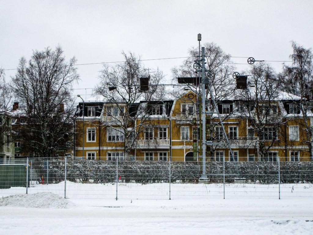 Häuserfronten in Östersund.