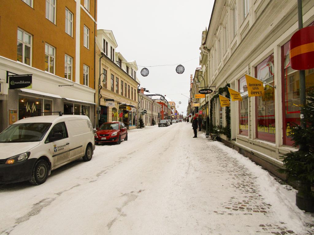 In den Straßen von Östersund.