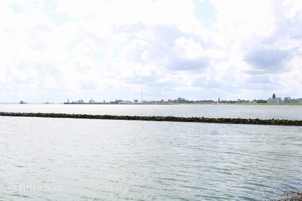 Blick auf Cuxhaven