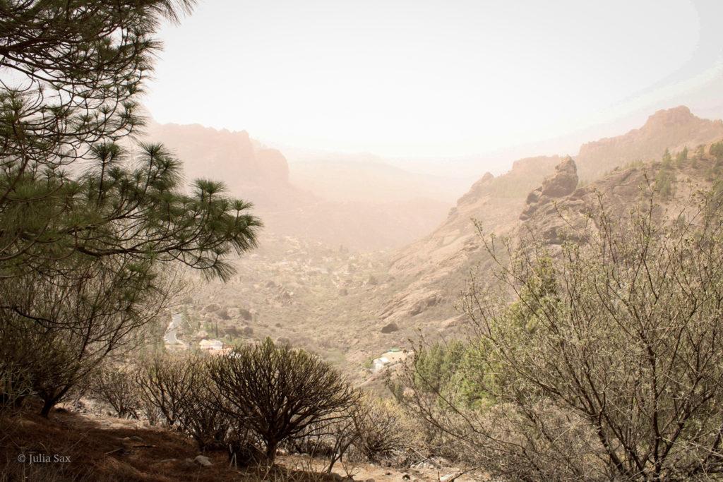 Ein Tal im Sand der Calima