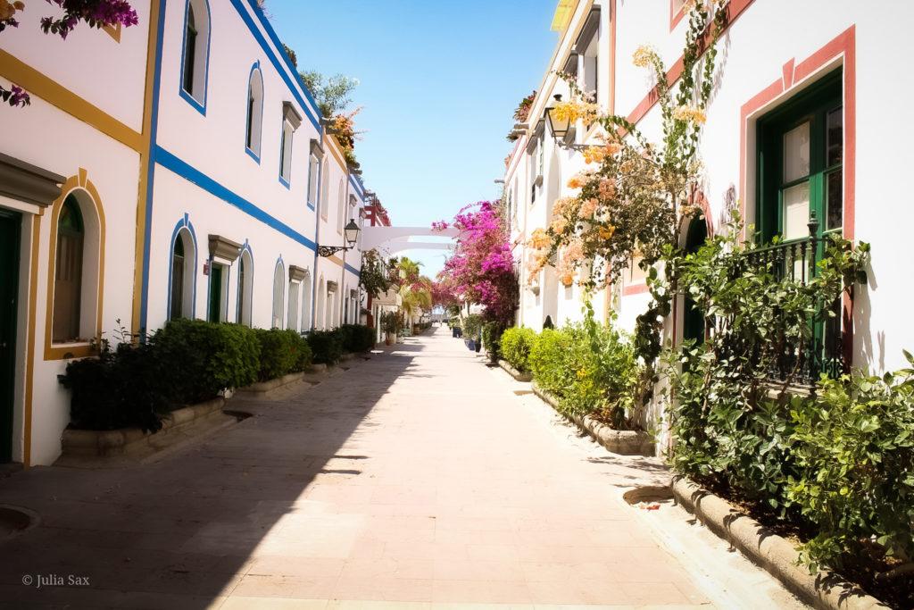 Die Straßen von Puerto de Mogán.