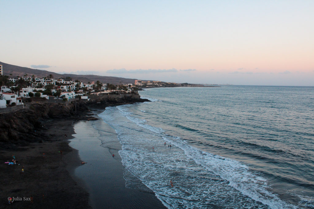 Blick auf die Küste von San Agustín